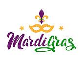 Mardi Gras lettering text