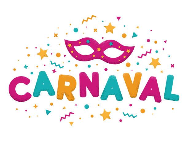 ilustraciones, imágenes clip art, dibujos animados e iconos de stock de texto de letras de mardi gras - carnaval