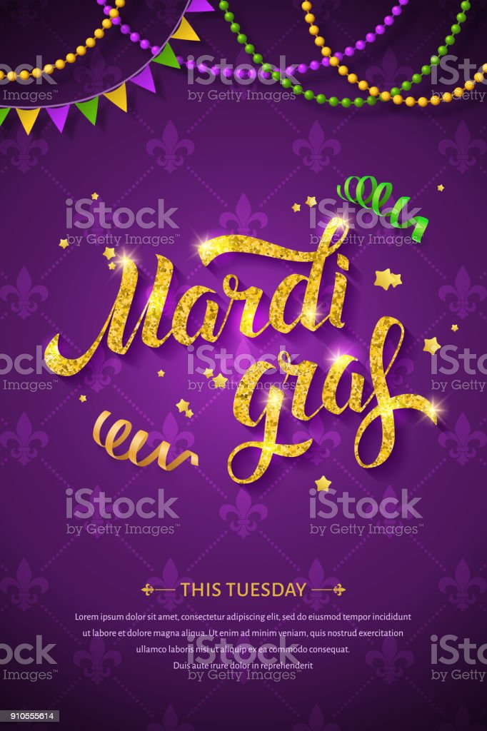 Mardi gras logo. vector art illustration