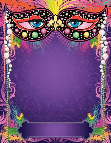 Mardi Gras Mask Banner