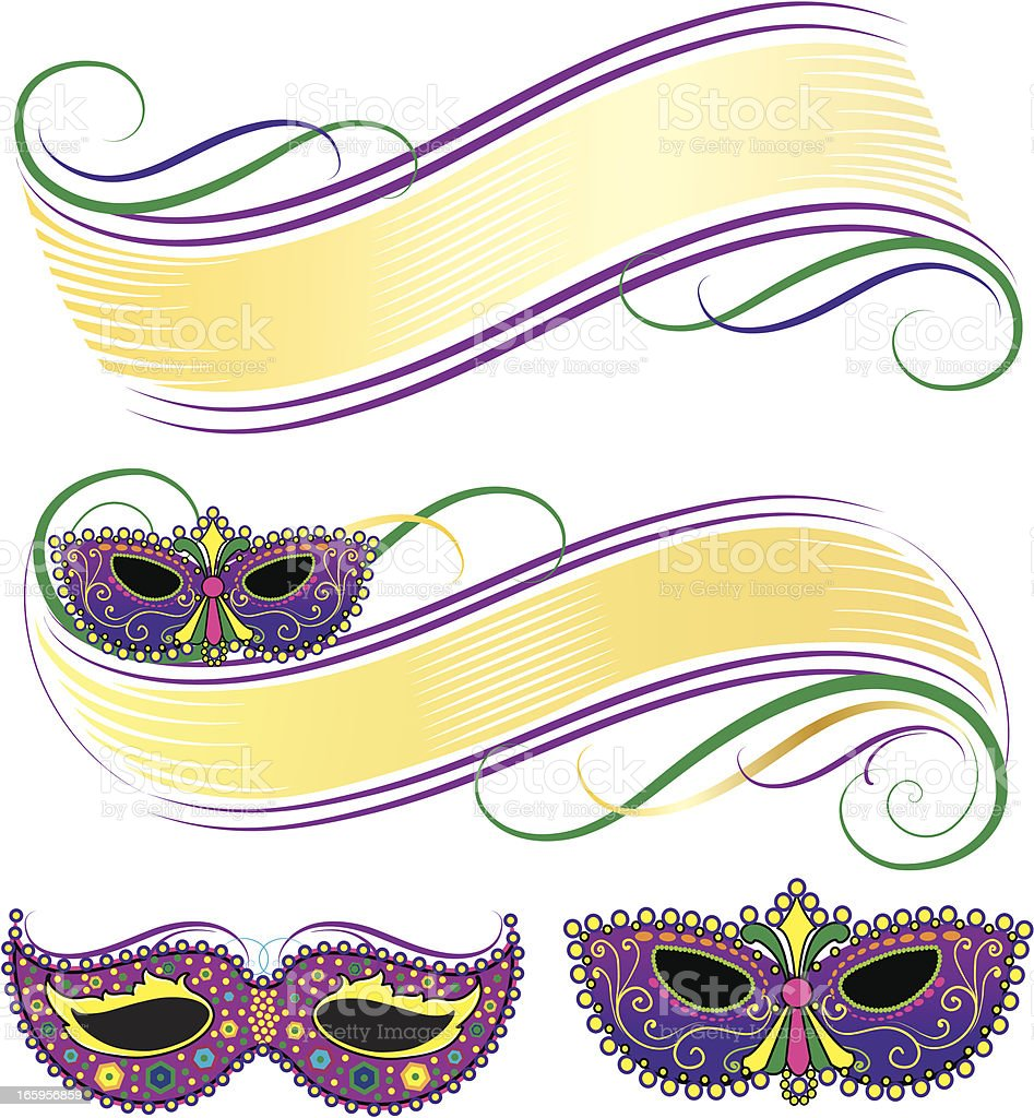 Mardi Gras Mask Banners royalty-free mardi gras mask banners stock vector art & more images of backgrounds