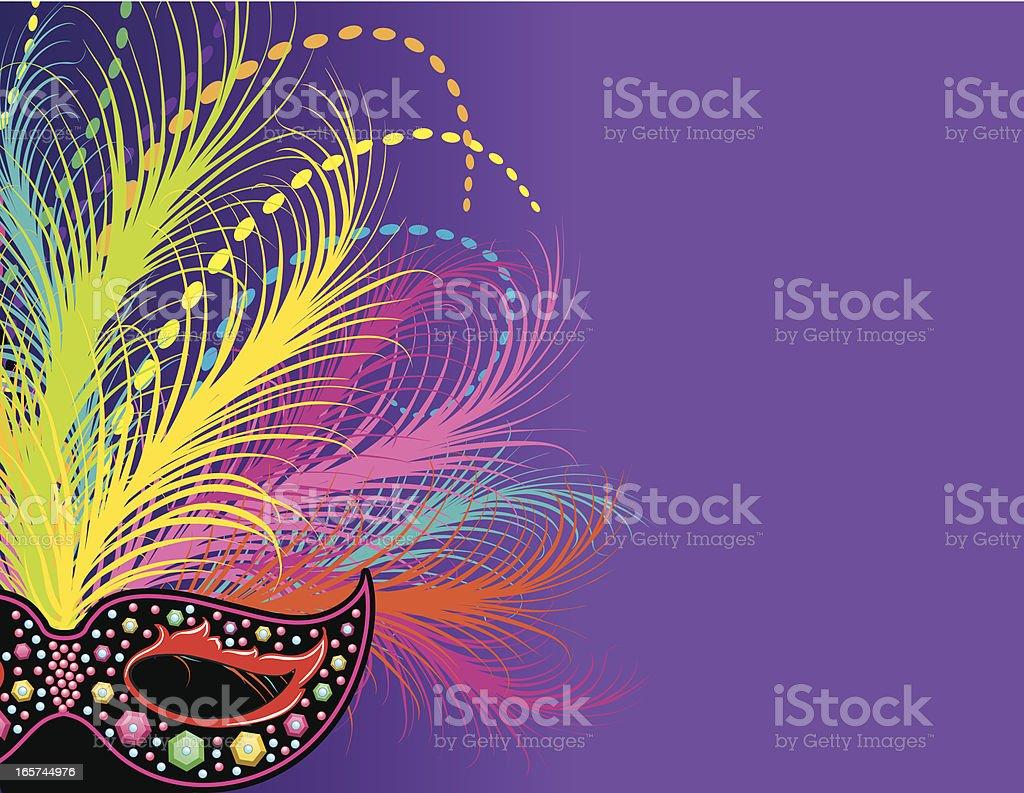 Mardi Gras Mask Page royalty-free stock vector art
