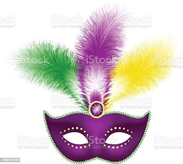 Mardi gras mask with feathers vector id488472534?b=1&k=6&m=488472534&s=612x612&h=w3ny9qjtowtcjrqlxtwjk1bs7d3bpoqltftvfeuhigg=