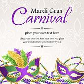 Mardi Gras masquerade carnival