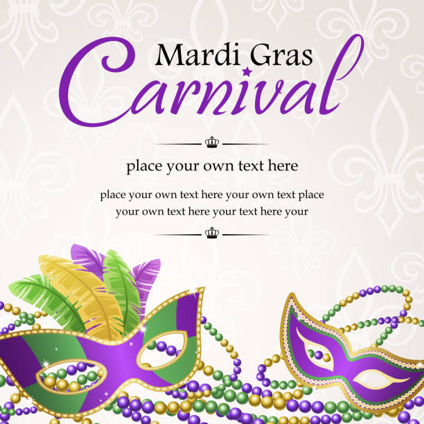 mardi gras masquerade carnival - mardi gras stock illustrations, clip art, cartoons, & icons