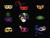 Mardi Gras / Masquerade Masks