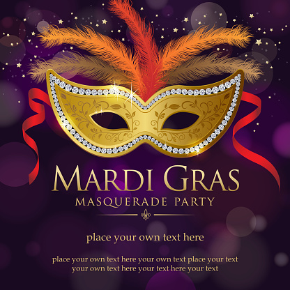 Mardi Gras Masquerade Party Invitation