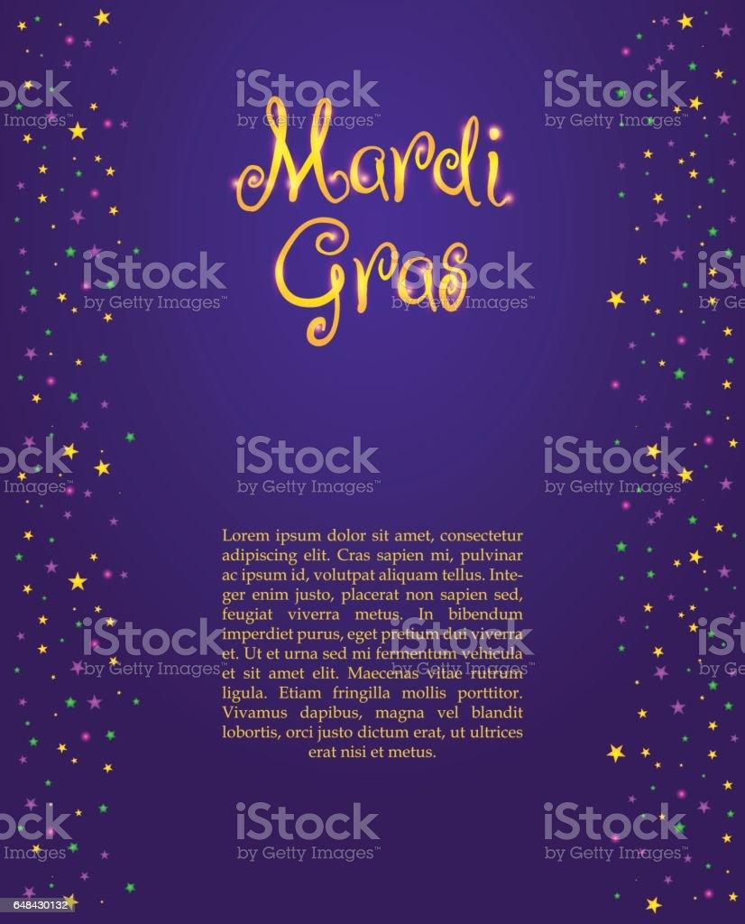 Ilustración de Mardi Gras Or Fat Tusday y más banco de imágenes de ...