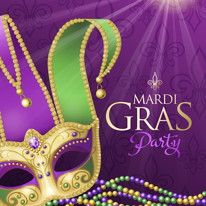 Mardi Gras Party with Jester Mask