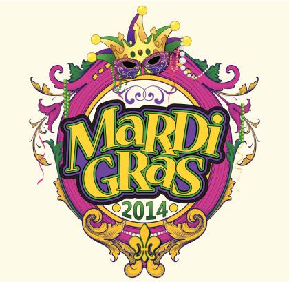 Mardi Gras Text Frame