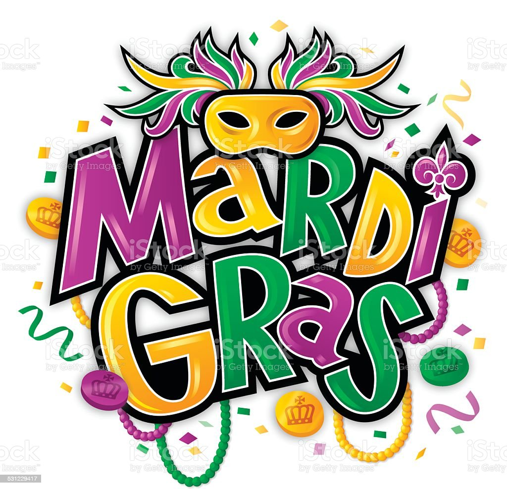 Mardi Gras vector art illustration