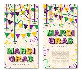 Mardi Gras vertical banners