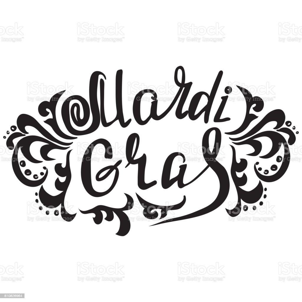 Mardi Gras vintage lettering background