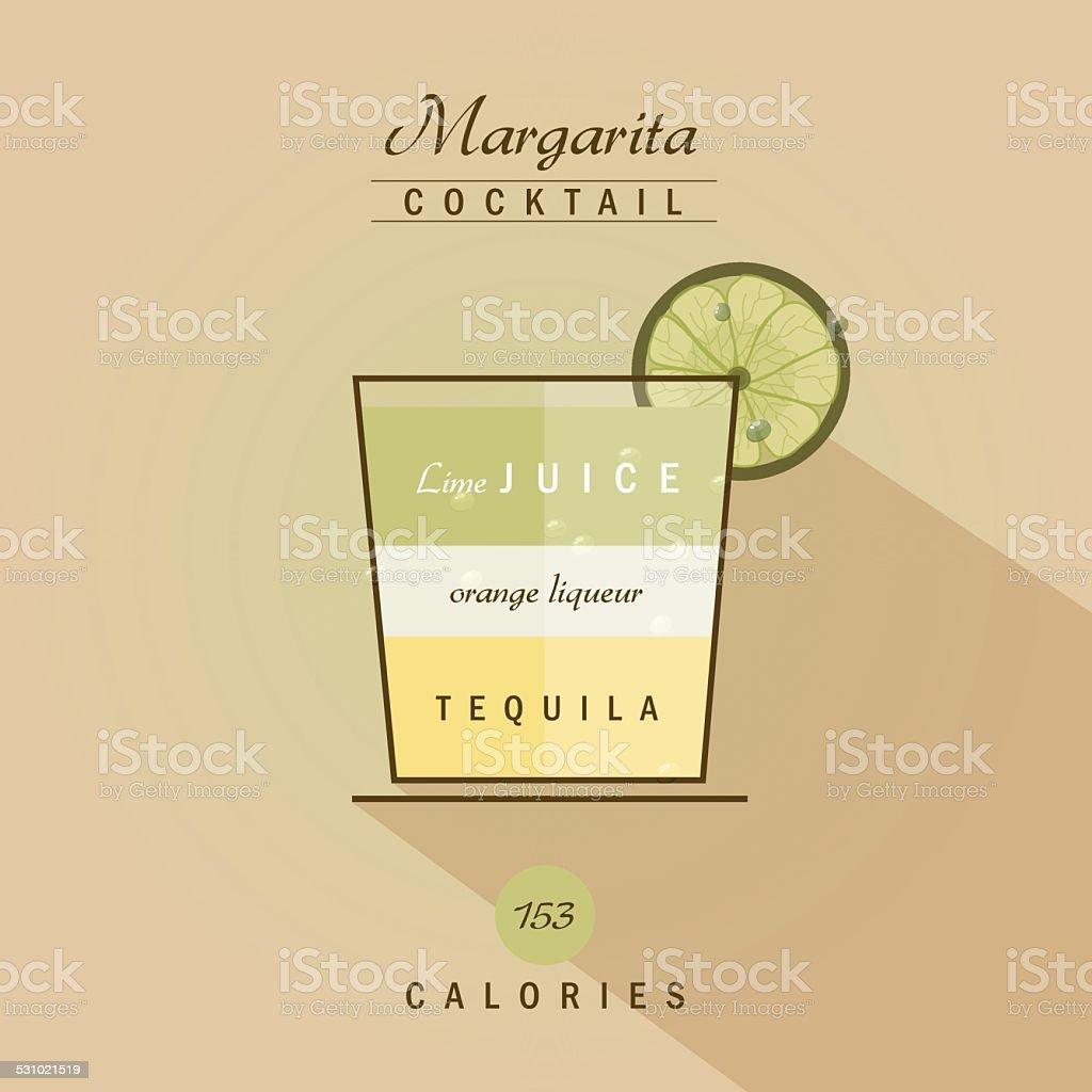 margarita cocktail drink recipe vector illustration vector art illustration