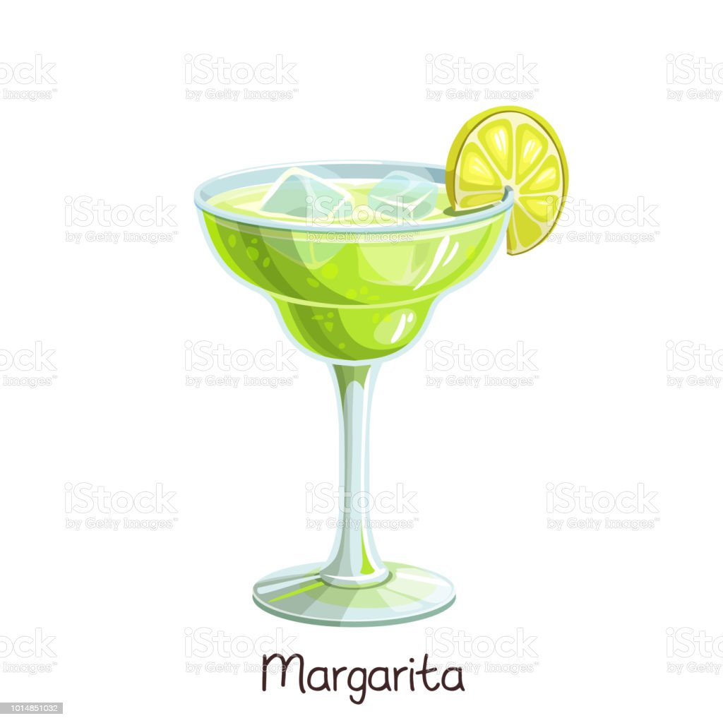 margarita cocktail au citron vert - Illustration vectorielle