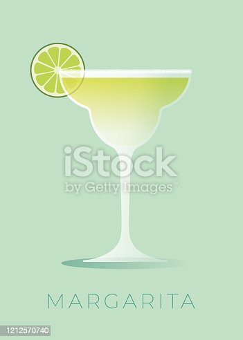 istock Margarita Cocktail with lime wedge. 1212570740