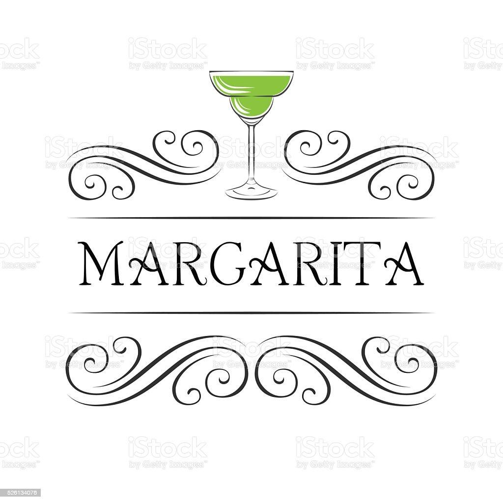 Margarita, Drinking Glass, Cocktail, Vector vector art illustration