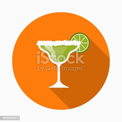 istock Margarita Flat Design Mexico Icon with Side Shadow 926930622