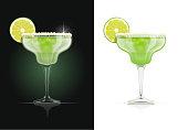 Margarita glass. Alcohol cocktail.