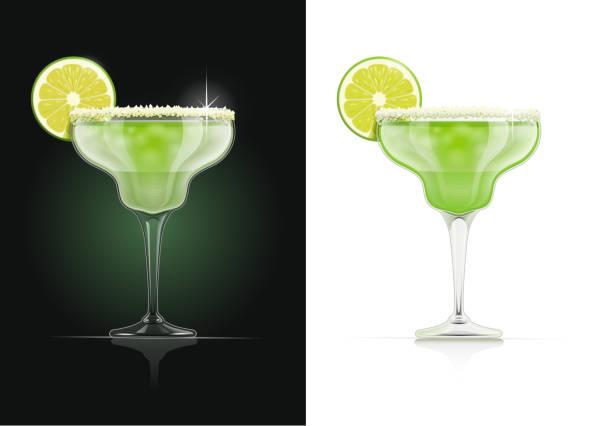 ilustraciones, imágenes clip art, dibujos animados e iconos de stock de vaso de margarita. alcohol coctel. - margarita