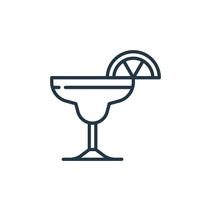 margarita icon vector from cinco de mayo concept. Thin line illustration of margarita editable stroke. margarita linear sign for use on web and mobile apps, logo, print media..