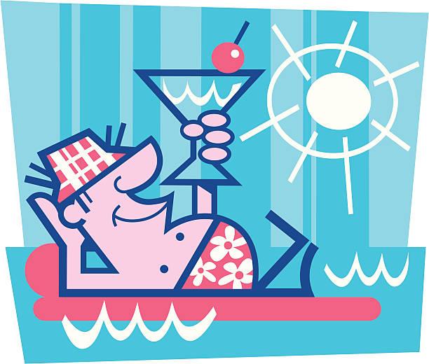 margarita luxury - peter bajohr stock illustrations