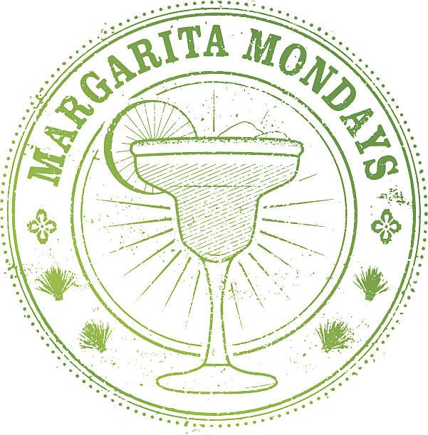 Margarita Monday Stamp Margarita Monday Stamp for restaurants margarita stock illustrations
