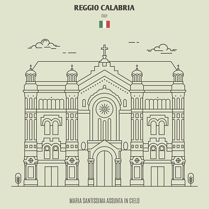 Maria Santissima Assunta in Cielo of Reggio Calabria, Italy. Landmark icon
