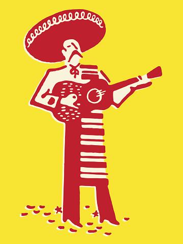 Mariachi Band Guitarist
