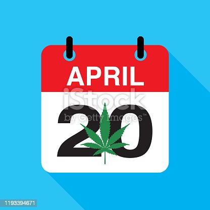 istock Marijuana 420 Calendar Icon 1193394671