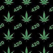 istock Marijuana 420 Seamless Pattern 1185976181
