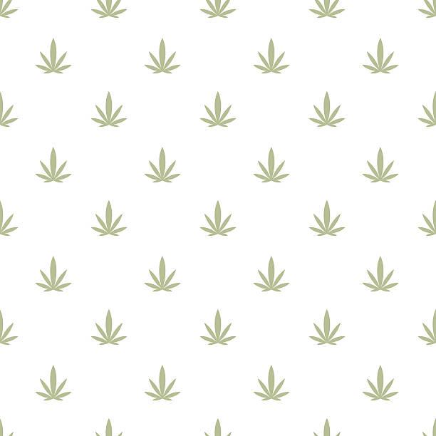Marijuana background seamless pattern texture cannabis vector art illustration