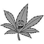 Marijuana Cartoon Illustration