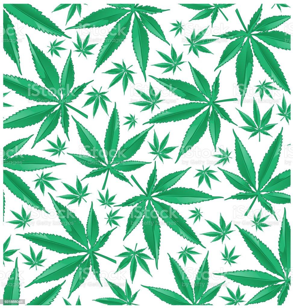 marijuana green pattern background vector art illustration