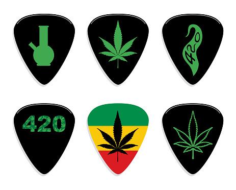Marijuana Guitar Pics