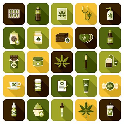 Marijuana Icon Set