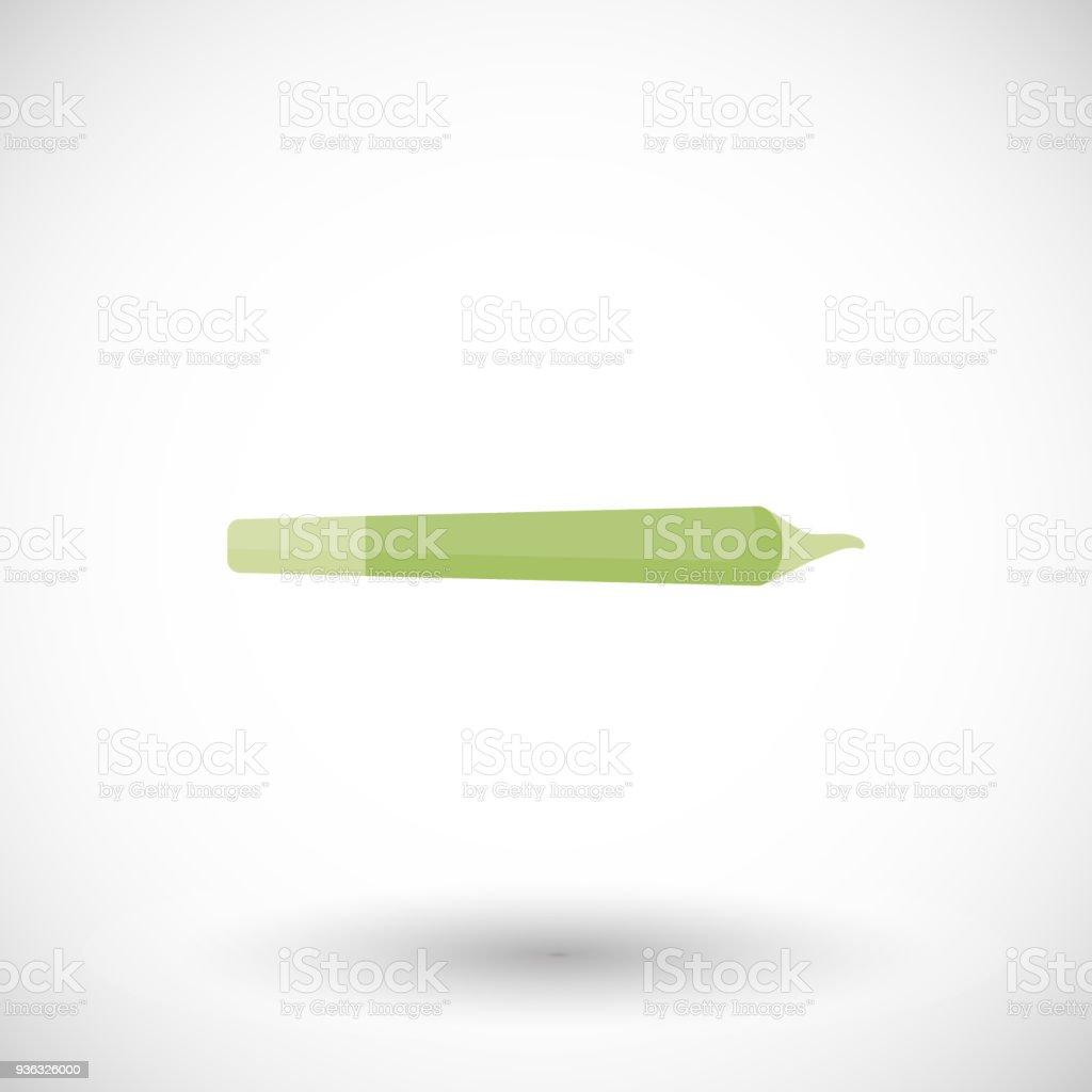 Marijuana joint, spliff flat vector illustration vector art illustration