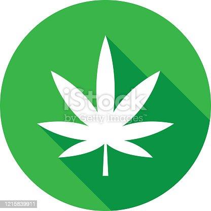 istock Marijuana Leaf Icon Silhouette 1215839911