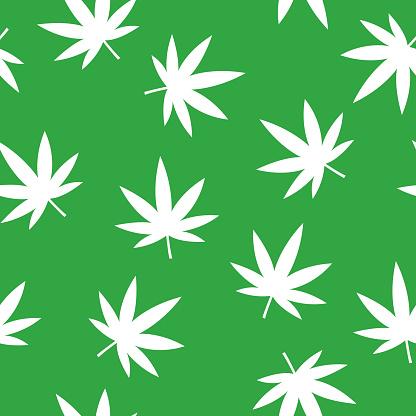 Marijuana Leaf Pattern Silhouette