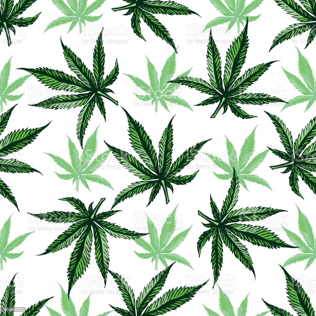 Marijuana leaf pattern stock vector art more images of for Weed leaf template
