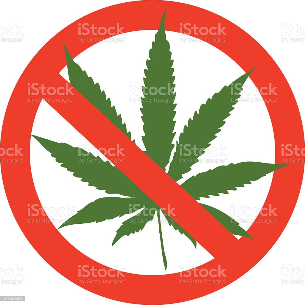 Marijuana leaf vector art illustration