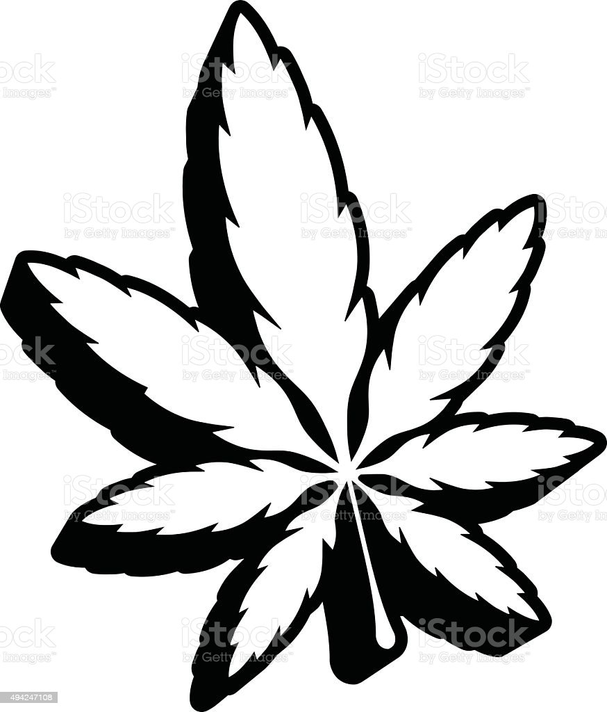 Marijuana Illustration Stock Vector 566187325 - Shutterstock |Weed Plant Drawings