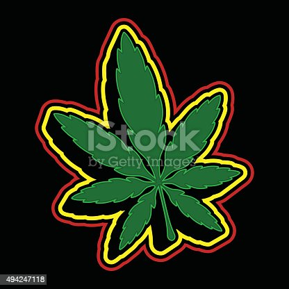 Marijuana Pot Weed Leaf Symbol Stock Vector Art More Images Of