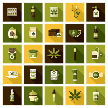 Marijuana Products Icon Set