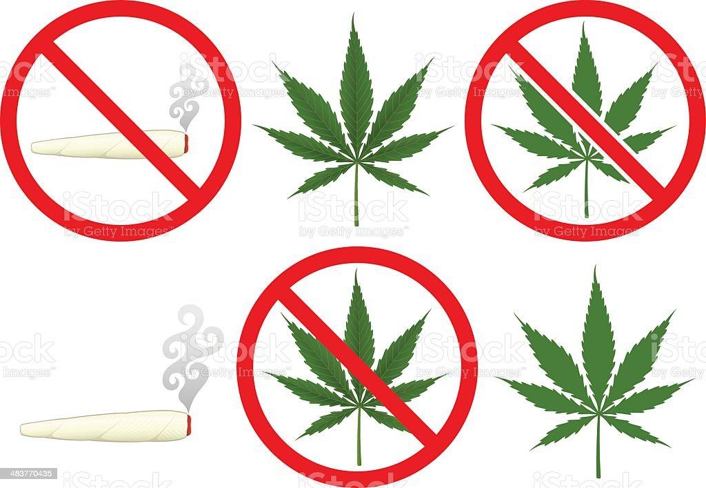 Marijuana vector art illustration