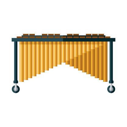 Marimba Icon on Transparent Background