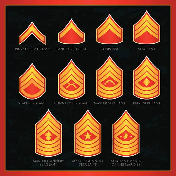 U.S. Marine Corps Badges vector art illustration