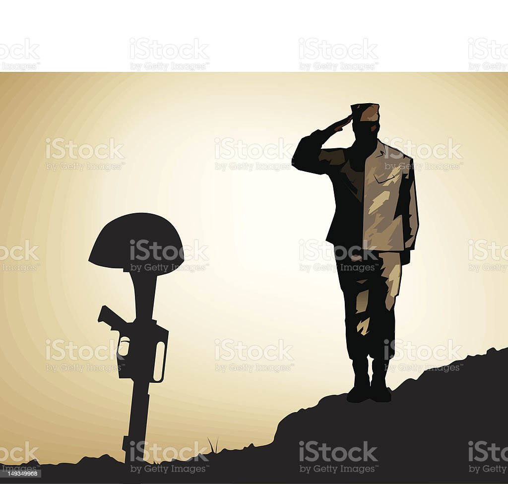 Marine Desert Memorial Salute royalty-free marine desert memorial salute stock vector art & more images of afghanistan
