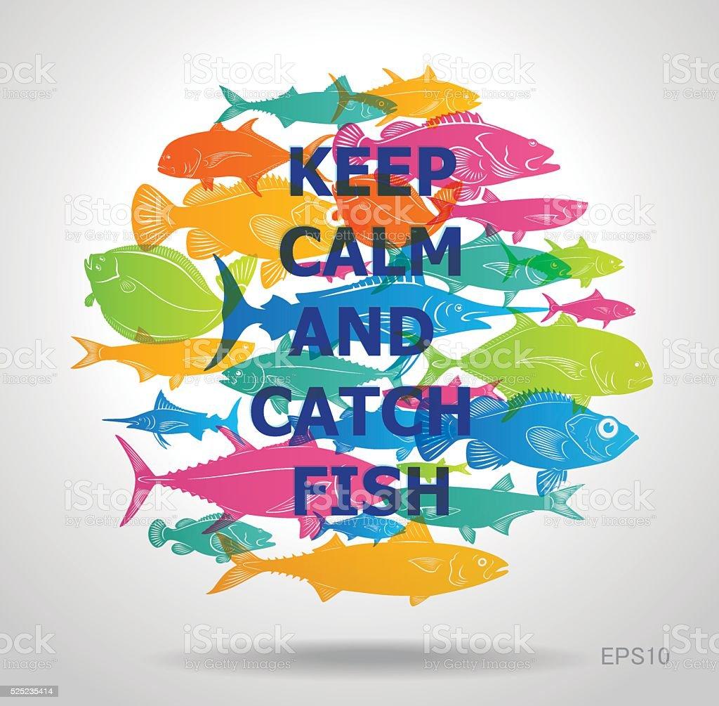 marine fish logo vector art illustration