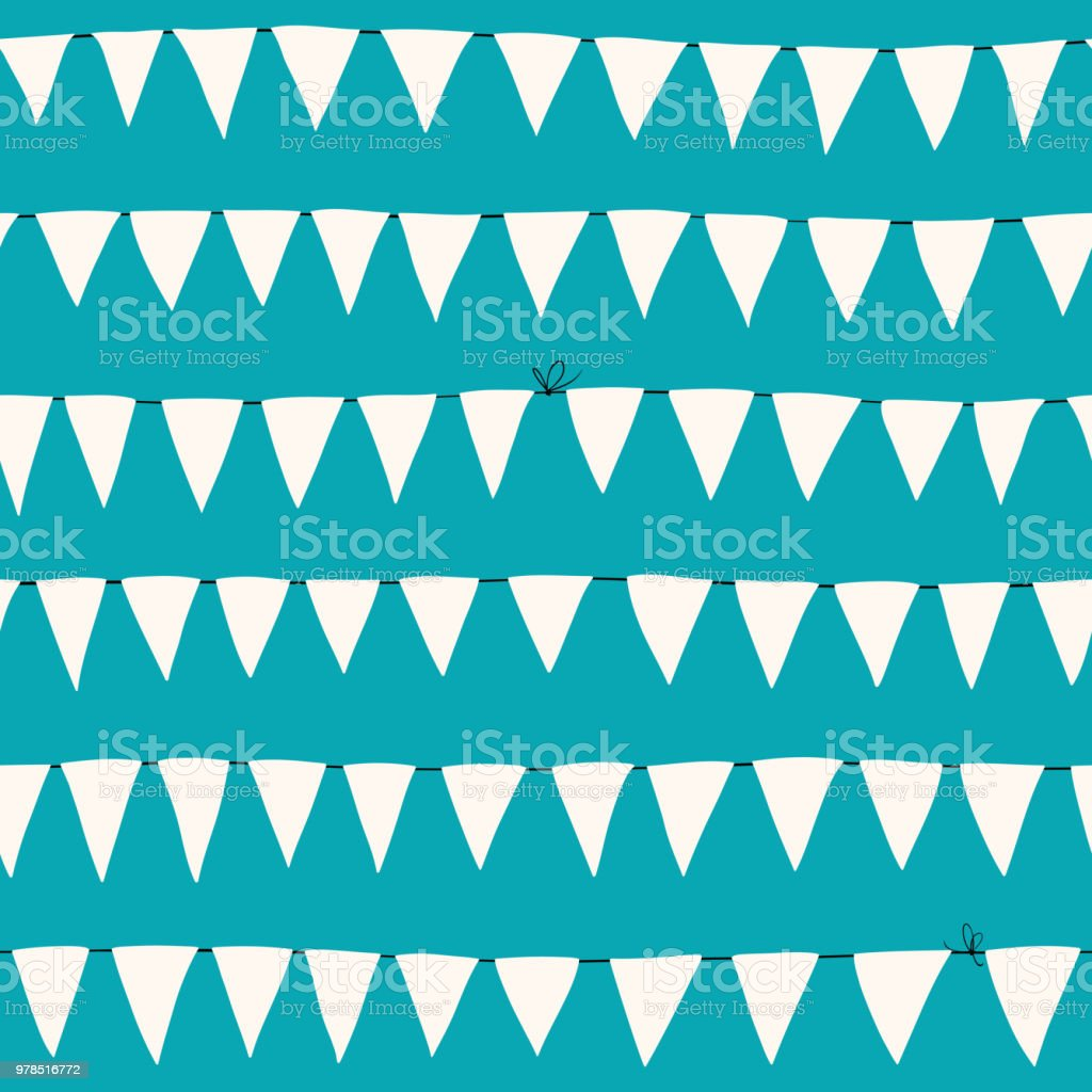 Marine Flags Seamless Pattern